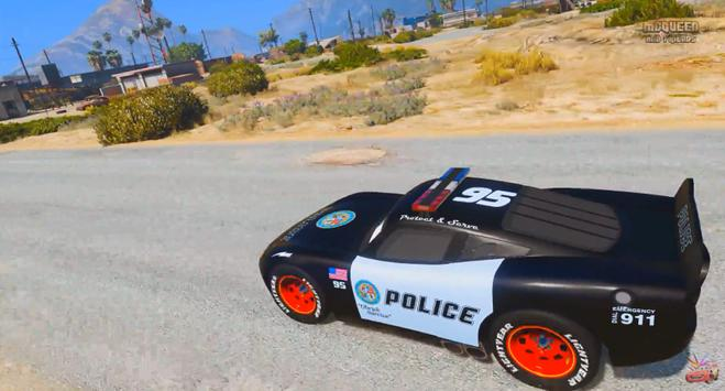 Police Mcqueen Lightning Race Chase apk screenshot