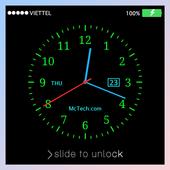 Live Clock Lock screen icon
