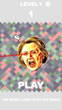 Hillary Clinton Laser Eye Game poster