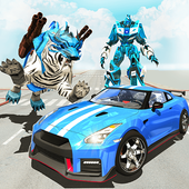 White Tiger Robot Car - US Police Transform Robot icon