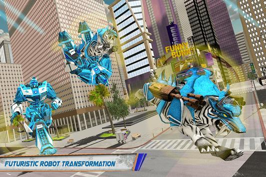 White Tiger Robot Car - US Police Transform Robot screenshot 3