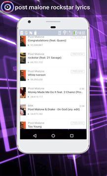 post malone rockstar lyrics screenshot 1