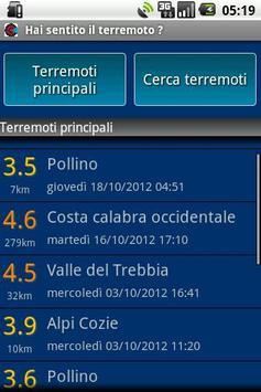 Did you feel the earthquake ? apk screenshot