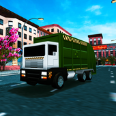 Blocky Garbage Truck Sim icon