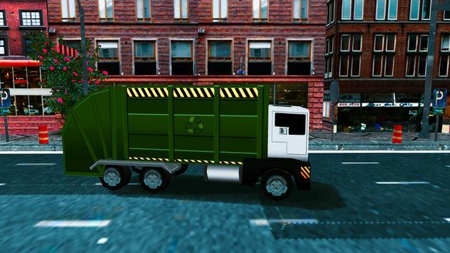 Blocky Garbage Truck Sim poster