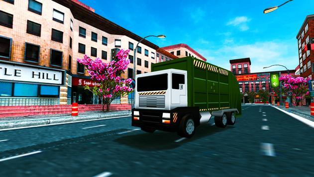 Blocky Garbage Truck Sim apk screenshot