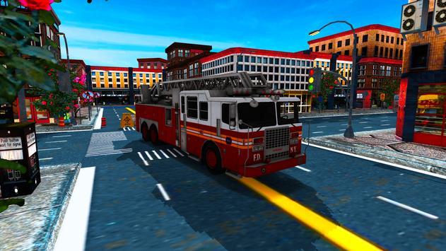 China Town Fire Truck Pro apk screenshot