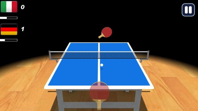 Table Tennis Ping Pong 3D poster
