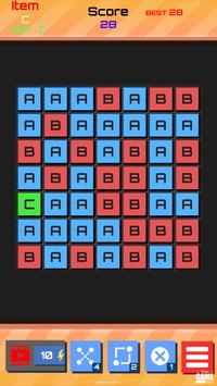 ABC Alphabet game : word link match puzzle poster