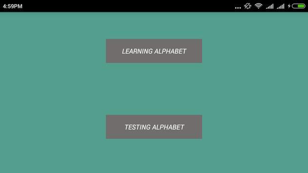 Learn Alphabet poster