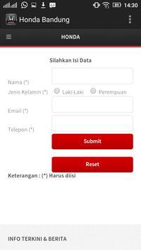 Honda Bandung apk screenshot