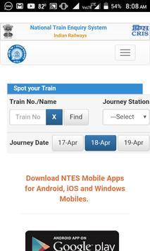 Train Running Status Live & PNR Status Indian Rail screenshot 1