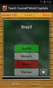 Teach Yourself World Capitals apk screenshot