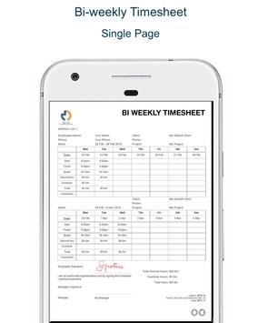 timesheet pdf apk screenshot