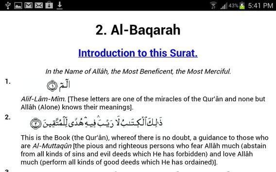 Quran With English Translation apk screenshot