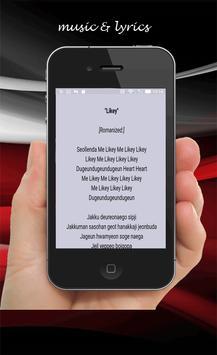 Twice likey lyrics screenshot 1