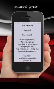 Red velvet peek a-boo lyrics apk screenshot