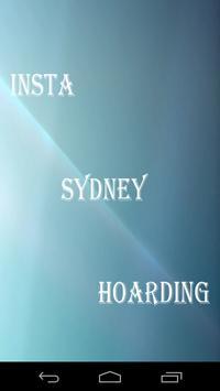 Insta Sydney Hoarding poster