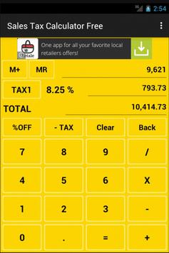 Sales Tax Calculator Free apk screenshot