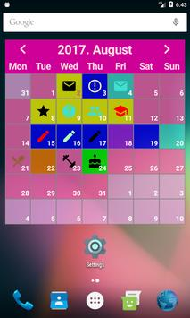 Colorful Days Calendar Widget poster
