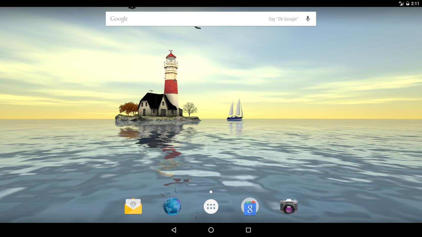 ... Lighthouse 3D Live Wallpaper screenshot 8 ...