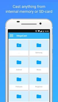 MegaCast - Chromecast player apk screenshot