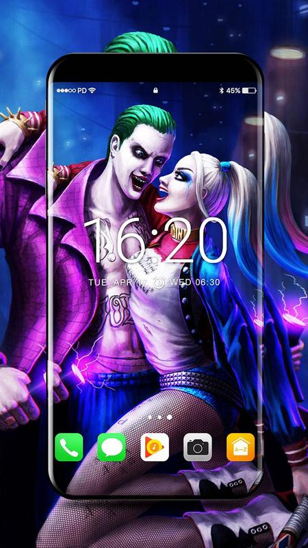 Joker and harley quinn wallpapers 4k for android apk - Harley quinn hd wallpapers for android ...