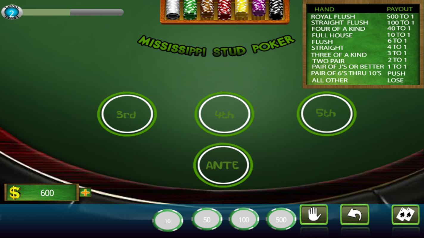Play mississippi stud poker for fun