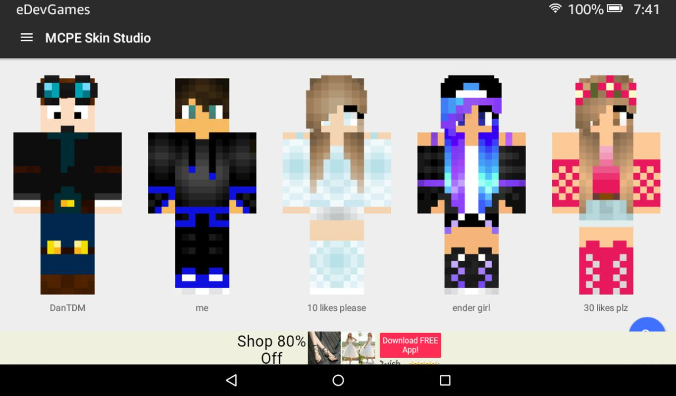 free minecraft skins for pc
