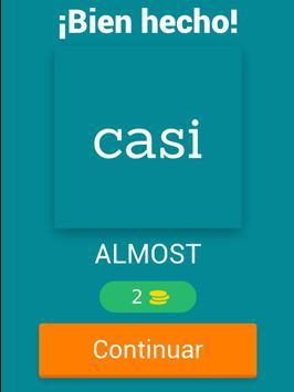 Spanish to English Fun Quiz screenshot 5