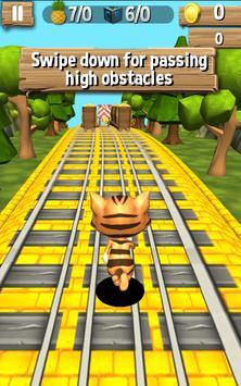 Subway Leo Cat Run Dash - Gold poster