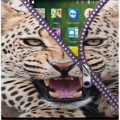 Animals Zipper Screen Lock icon