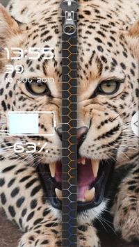 Animals Zipper Screen Lock screenshot 1