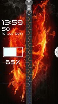 Fire Skull Zipper Screen Lock screenshot 3