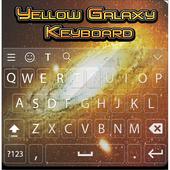 Yellow Galaxy Keyboard Theme icon