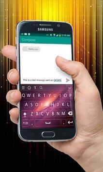 Yellow Galaxy Keyboard Theme poster