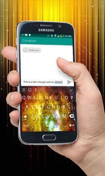 Yellow Galaxy Keyboard Theme apk screenshot