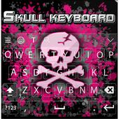 Pink Skull Keyboard Theme icon