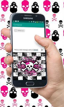 Pink Skull Keyboard Theme apk screenshot