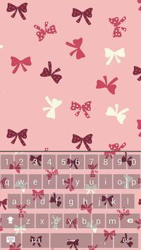 Pink Bow Keyboard Theme apk screenshot