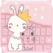 Cute Rabbit Keyboard Theme icon