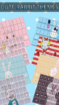 Cute Rabbit Keyboard Theme poster
