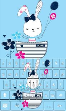 Cute Rabbit Keyboard Theme apk screenshot