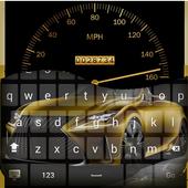 Gold Luxury Car Keyboard Theme icon