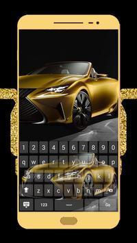 Gold Luxury Car Keyboard Theme poster