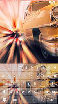 Gold Luxury Car Keyboard Theme apk screenshot