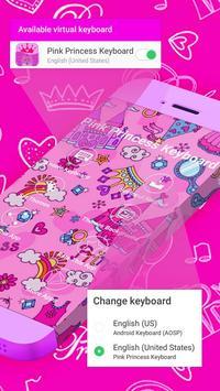 Pink Princess Keyboard Theme poster