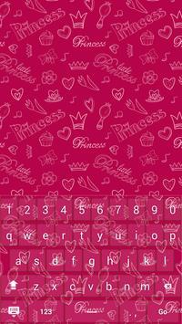 Pink Princess Keyboard Theme apk screenshot