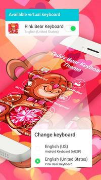 Pink Bear Keyboard Theme poster