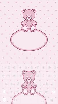 Pink Bear Keyboard Theme apk screenshot